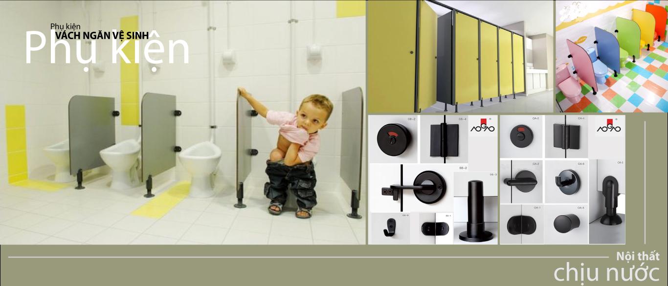 phụ kiện vách ngăn vệ sinh